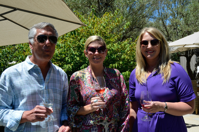 Vintner's Luncheon at Ma(i)sonry. Barney Fonzi, Kimberly Miller, Sonia Tolbert.