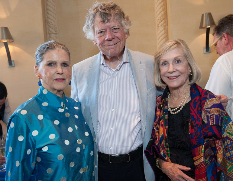Dinner and Concert at Opus One. Donna Long, Gordon Getty and Pepper Jackson.