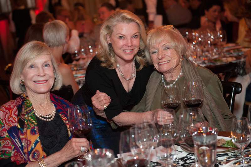 Pepper Jackson, Jeanne Lawrence, Margrit Mondavi.