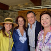 Vintner's Luncheon at Silver Oak Cellars. Elizabeth Thieriot, Catherine Schmidt, Paul Weaver, Maria Manetti Shrem.
