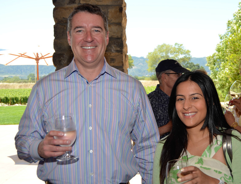 Vintner's Luncheon at Silver Oak Cellars. Tom Frank and Nellie Keyhani.