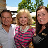 Vintner's Luncheon at Silver Oak Cellars. Kathryn and Craig Hall with Anna Pepgjonaj.