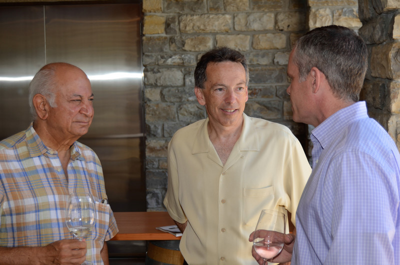 Vintner's Luncheon at Silver Oak Cellars. Darioush Khaledi, Richard Walker and David Duncan.