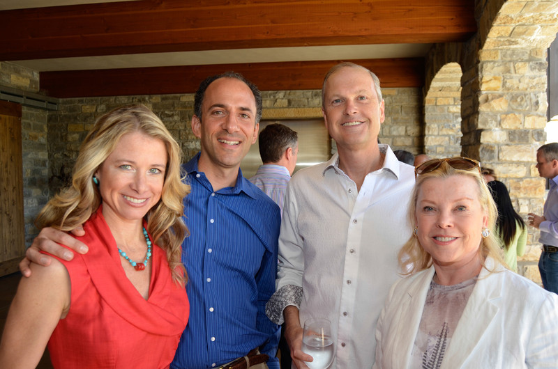 Vintner's Luncheon at Silver Oak Cellars. Wendy and Jason Bazilian, Steven Stull, Jeanne Lawrence.