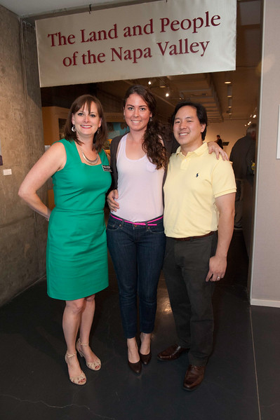 Reception and Exhibit at Napa Valley Museum. Kristie Sheppard, Ming Luke and guest.