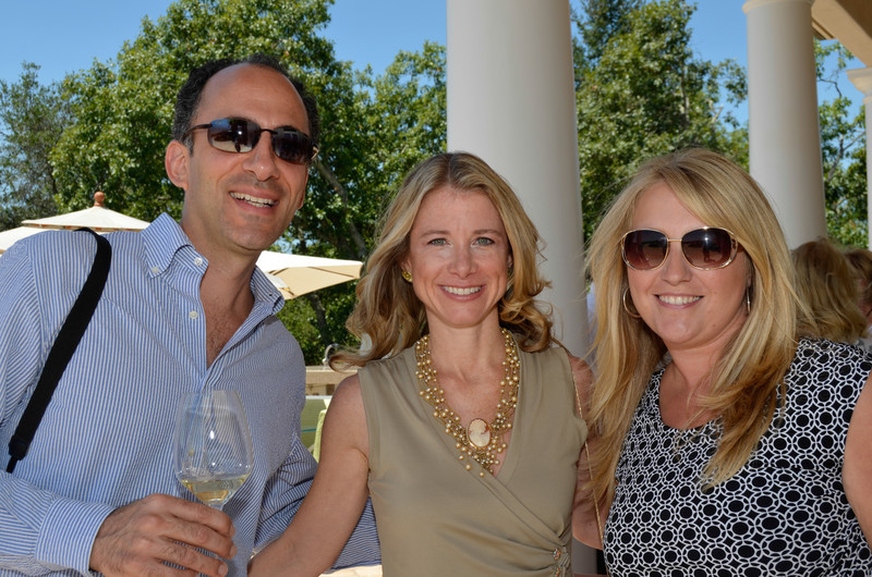 Vintner's Luncheon at HALL Rutherford. Jason and Dr. Wendy Bazilian, Sonia Tolbert.