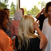 24 Hour Plays participants meet for the first time. Alfre Woodard and Tamara Tunie.