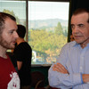The 24 Hour Plays participants meet for the first time. Chazz Palminteri.
