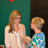 The 24 Hour Plays participants meet for the first time. Allison Janney and Tina Fallon.