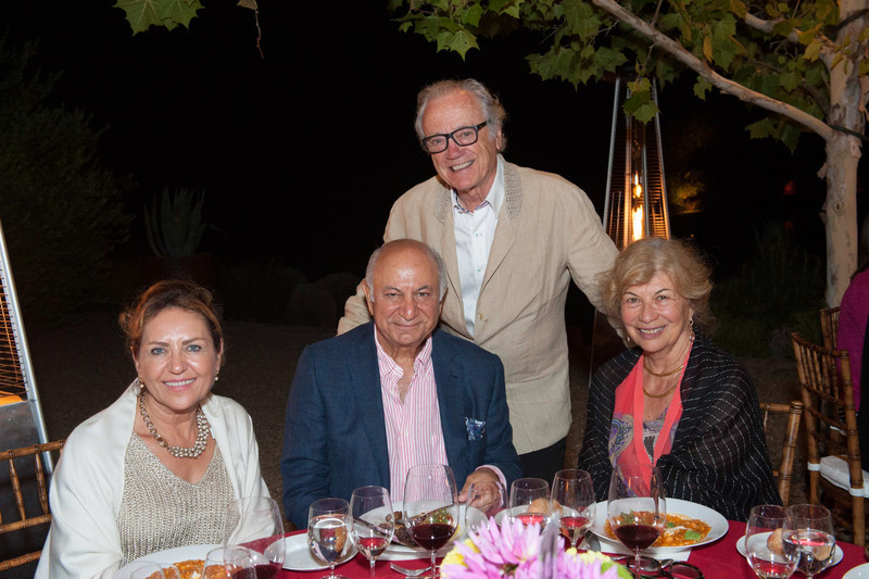 Dinner at Quintessa. Shahpar and Darioush Khaledi with the evening's hosts, Valeria and Agustin Huneeus.
