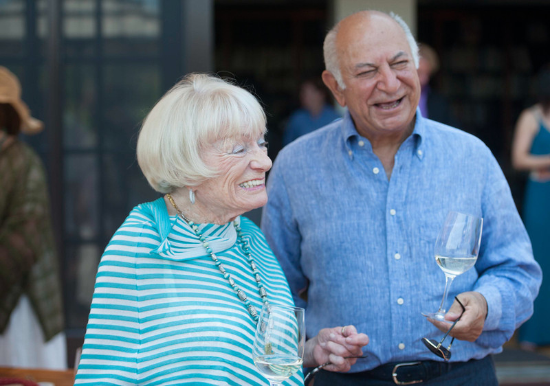 Vintner's Luncheon at The Hess Collection. Margrit Mondavi and Darioush Khaledi.