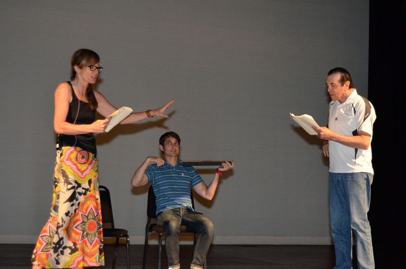 The 24 Hour Plays rehearsals.