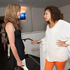 Backstage before 24 Hour Plays. Allison Janney and Tamara Tunie.