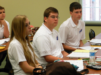 Math Academy students during one of the classroom sessions.