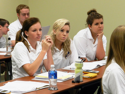 High school students in class during GWU's Math Academy.