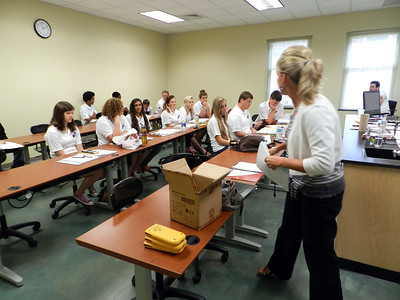 Math Academy students during a classroom session.