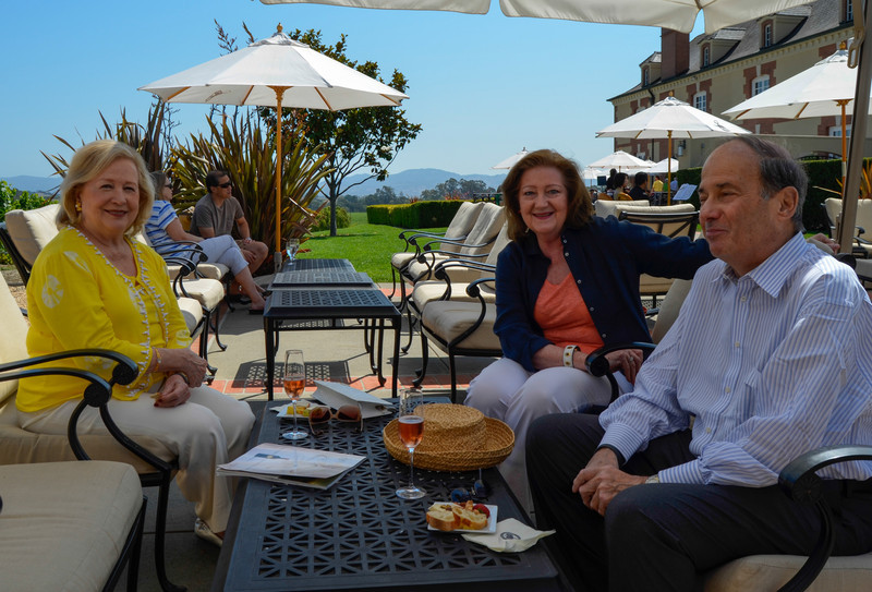 Sparkling Brunch at Domaine Carneros. Marianne Wyman, Martha Bredon, John Wyman.