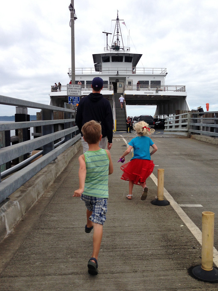 We kill a couple hours before the fireworks with a trip to Anderson and Ketron on the ferry.