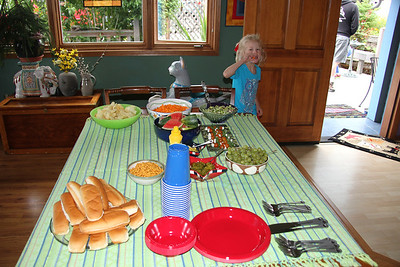 The 4th of July lunch spread at Mom's in Steilacoom