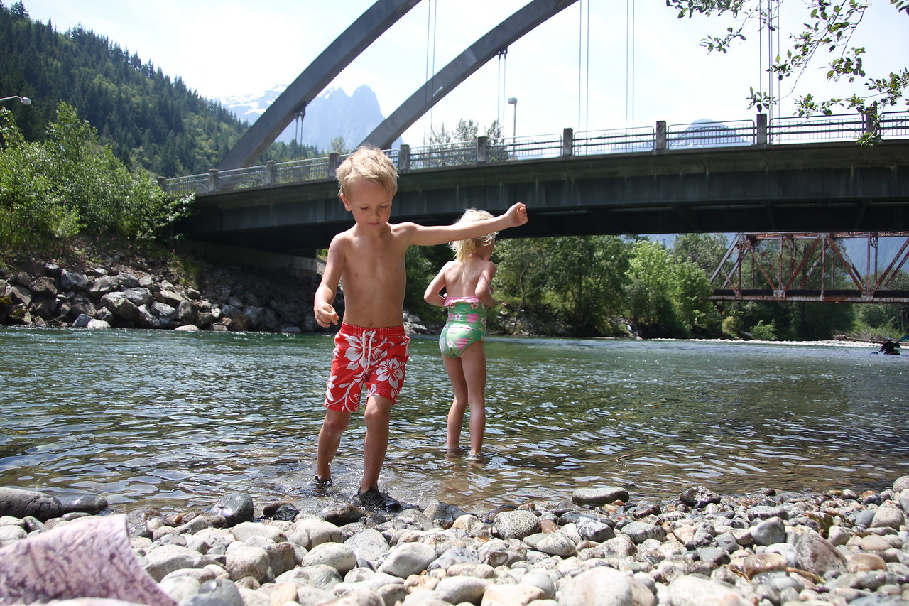 An afternoon playing in the Skykomish in Index.