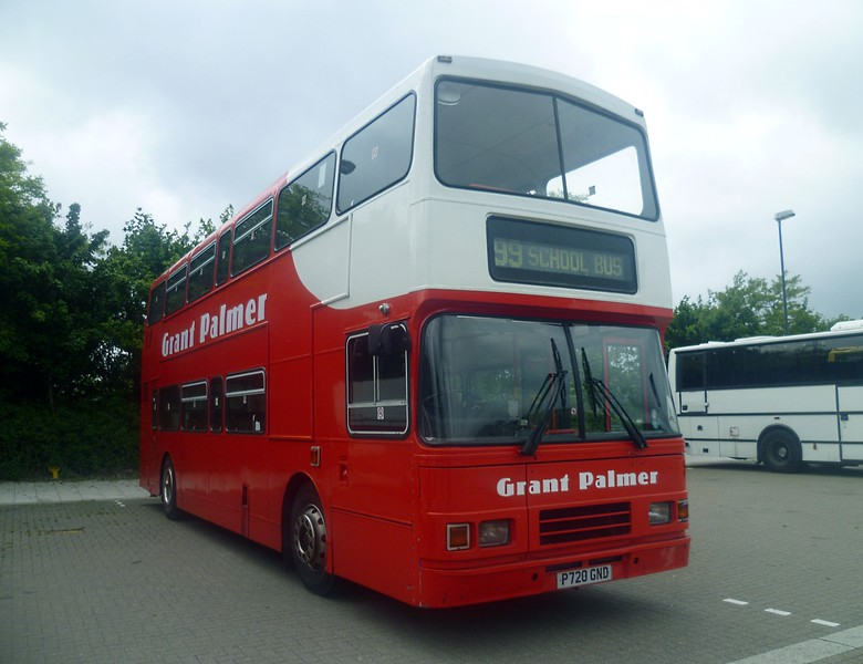 Grant Palmer Volvo Olympian P720GND laying over at Milton Keynes Central Coach Park before working the S99 from Woughton Campus to Bletchley, 13/06/2013.