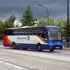 Stagecoach Bedford Jonckheere Mistral KSU461 leaving Milton Keynes Central under stormy skies with the 99 to Luton, 13/06/2013.