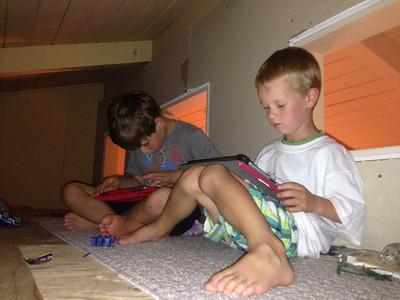 iPad / Loft time for the boys