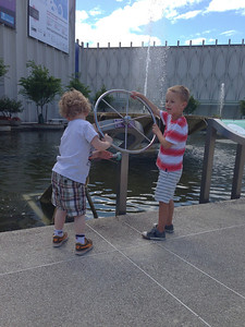 Connor and his friend Jack at the Science Center