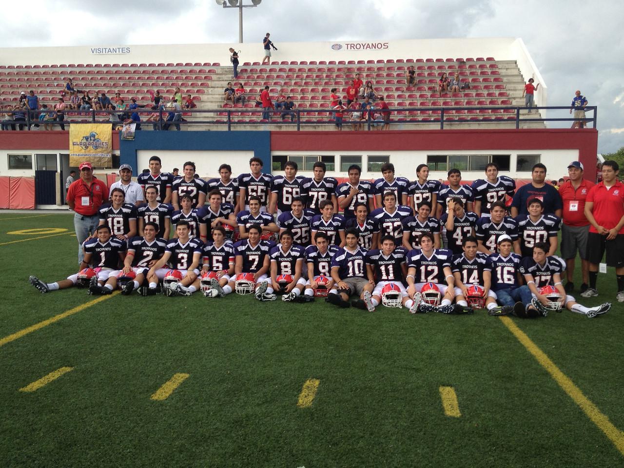 """Categoria Juvenil """"A"""" 2013 - equipo Troyanos Cancun. Mauricio Rocha #44."""