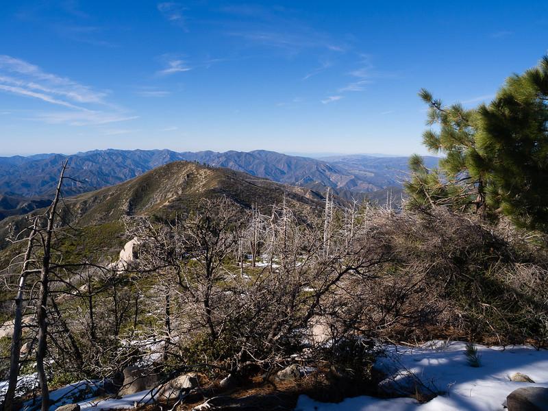 Ridge north from Junipero Serra Peak