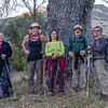 Intrepid hikers, led by Lisa