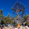 Fire lookout atop Junipero Serra Peak