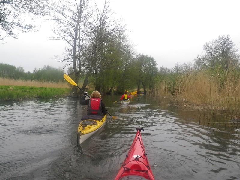 Högt vatten i kanalen mot Oxundasjön
