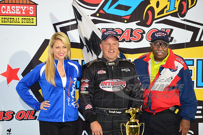 Darrell Lanigan in Victory Lane on Saturday @ Knoxville Raceway