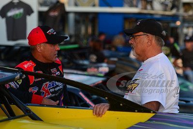 Billy Moyer talks with his dad Bill Moyer