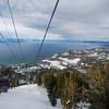 Descending in the gondola