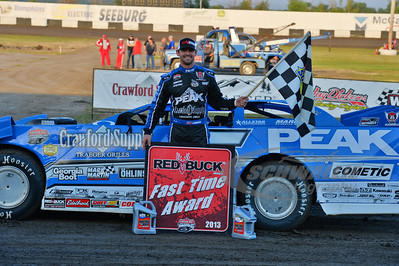 Jared Laders won the Red Buck Fast TIme Award