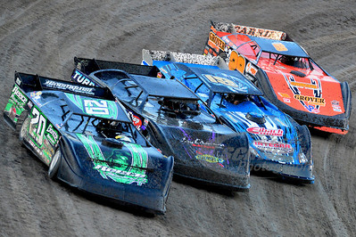 (20) Jimmy Owens, (2) John Anderson, (19r) Ryan Gustin, and (28) Eddie Carrier, Jr.