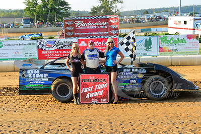 Justin Rattliff won the Red Buck Fast Time Award
