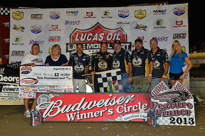 Steve Francis and crew in Victory Lane