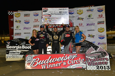 Steve Francis in Victory Lane with Brad Neat and Jimmy Owens