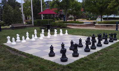 Lifesize chess at