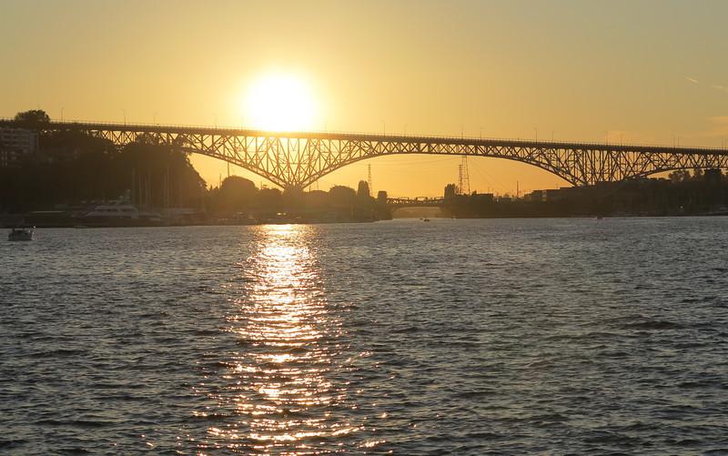 Aurora Bridge as the sun comes down from the Zodiac schooner, July 6