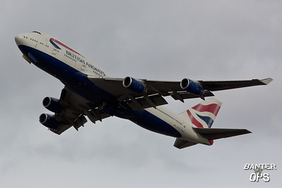 Boeing 747 G-CIVY British Airways departing to Riyadh