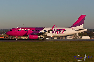 "Airbus A.320 HA-LWU Wizz Air Departs in the sun as ""WZZ 504"""