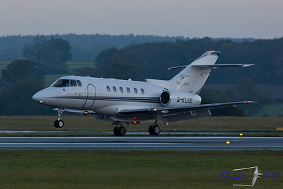 "Hawker 800XP G-KLOE Arrives as ""GAMA 103"" from Paris Le Bourget"