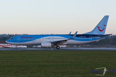 Boeing 737 G-FDZD Thomson Airways Sporting the company's new livery