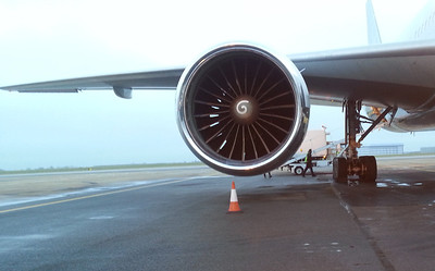 Boeing 777, TR-KPR State Of Gabon One of it's engines.