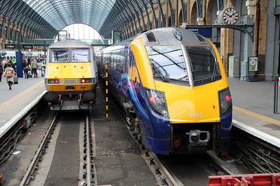 82208 and 180113 sit at Kings Cross.