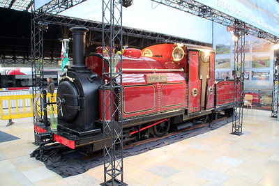Ffestiniog Narrow Guage No1 'Princess' on display at London Paddington. This has recently been restored and is some 150 years old!!